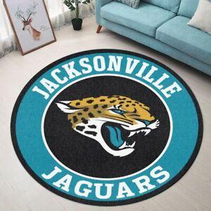 Jacksonville Jaguars Area Rug Round Rug Bathroom Floor Mat Non-slip Door Mat