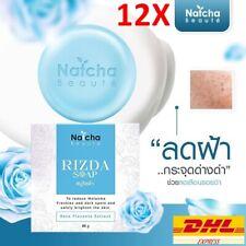 12 X Natcha SOAP Rose Placenta Aloe Whitening Reduce Acne Clear Radiant Skin 50g