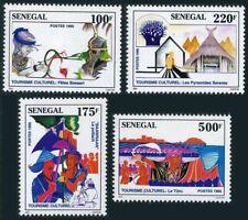 Senegal 1191-1194,MNH.Mi 1402-1405. Tourism 1995.Bassari Festival Baawnaan,Huts.
