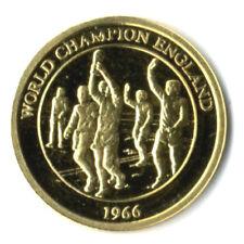 DEUTSCHLAND: FUSSBALL-WELTMEISTER IN GOLD: ENGLAND, 585 GOLD, PP, COA, G22