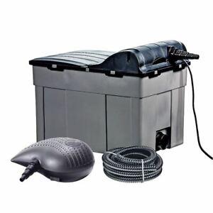 Heissner Teichfilter-Komplett-Set mit Pumpe + UVC