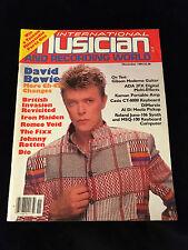 VINTAGE MUSICIAN RECORDING MAGAZINE-BOWIE-IRON MAIDEN-DIO-JOHNNY ROTTEN-1984