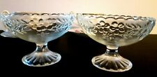 Vintage clear glass fruit dessert, nappies, or dishes