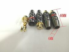 4pcs NEW Gold plated copper RCA socket  Audio Female soldering adapter
