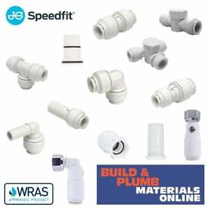JG SPEEDFIT Push-Fit Fittings 15mm 22mm Straights Elbows Tees Valves Inserts