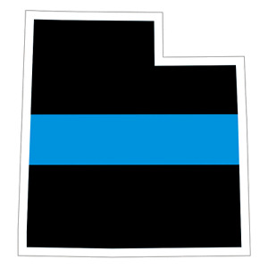 Utah UT State Thin Blue Line Police Sticker / Decal #220 Made in U.S.A.