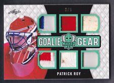 2017 Leaf Masked Men Goalie Gear Patch Glove Jersey Pad Patrick Roy /5...1/1?