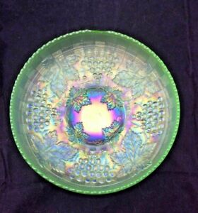 Northwood Grape & Cable ICE GREEN MASTER ICE CREAM Bowl Carnival  BASKETWEAVE