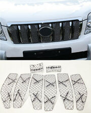 For Toyota Prado FJ150 2010-2013 8pcs Honeycomb Front grill grille combo insert