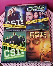 CSI : LAS VEGAS - Complete First ,Third & Fourth Season DVD Set Third CSI MIAMI