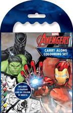 Marvel Avengers Garçons Classic Comic Book style Carry Along Coloriage Set