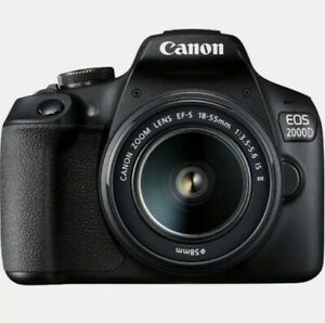 CANON EOS 2000D DSLR Camera with EF-S 18-55 mm f/3.5-5.6 IS II Lens *BRAND NEW*