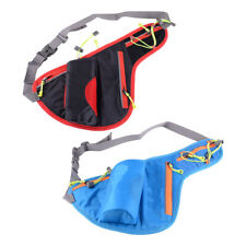 Sport Water Bottle Holder Belt Bag Running Cycling Waist Pack Pouch Blue/Black