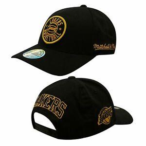 Mitchell & Ness LA Laker Adjustable Snapback Adults Cap Hat Black INTL576 LA