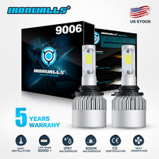 IRONWALLS 9006 HB4 LED Headlight Bulb Kit Low Beam 6000K 1300W 195000LM White