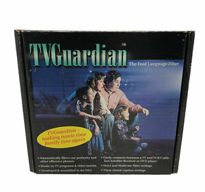 TV Guardian Foul Language Profanity Filter NOB As Seen on TV *READ* Vintage 1999