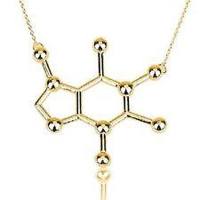 Caféine molécule Pendentif Collier café COLA amanteurs chaîne Caféine molécule