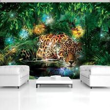 FOTOTAPETE Tapete WANDBILDER XXL 15F0073420 Jaguar im bunten Dschungel Tiere /