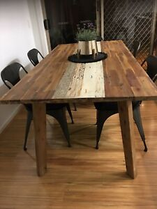 Dining table recycled timber