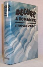 S. Fowler Wright DELUGE First U.S. edition Classic 1927 Science Fiction Novel
