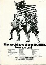 1976 Hohner Harmonica Guitar & Accordion Patrotic Print Ad