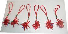 50  corni rossi porta fortuna portachiavi napoletani assortiti horn charms corno
