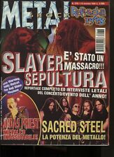 METAL SHOCK 276 SLAYER SEPULTURA  SACRED STEEL JUDAS PRIEST FATES WARNING