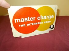 VINTAGE MASTER CARD PLASTIC SIGN ADVERTIZING COUNTER DISPLAY DOUBLE SIDED