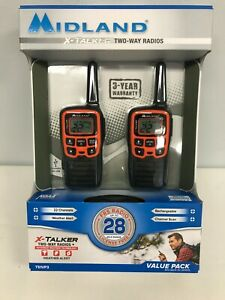 NEW MIDLAND X-TALKER TWO WAY RADIOS T51VP3 ~ MINT IN BOX with 28 MILE RANGE!