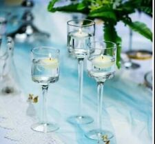 Set of 3 Tall Tealight Glass Candle Holders