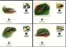 PANAMA - 1997 WWF 'AMERICAN CROCODILE' Set of 4 First Day Covers [B2433]