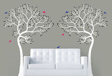 2 x 7FT. LARGE Wall Decal TREE WITH BIRDS Deco Art Sticker Mural - CUSTOM /MATTE