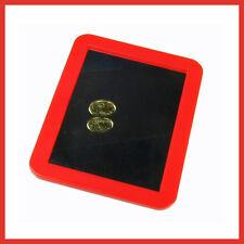 Women  Men Make-up Magnetic Small Locker Cabinet Glass + Plastic Red Frame