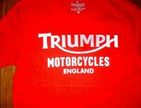 $39.50 LUCKY BRAND TRIUMPH MOTORCYCLES REFLECTIVE HIGH VISIBILITY T- SHIRT SMALL