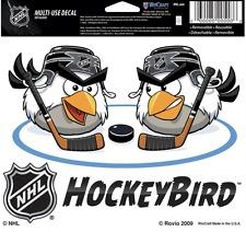 "(HCW) NHL Hockey Angry Bird Multi-Use Coloured Decal Sticker 5""x6"" *FREE SHIP"