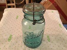 Blue glass ball ideal canning jar