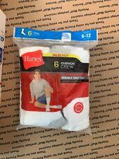 HANES Men's Cushion Crew Socks Value Pack / 6 pair Cushioned Footbottom  Sz 6-12
