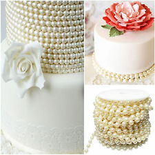 5m 10mm Cream Pearl Beads String Garland DIY Wedding Party Decorat Trim ABS