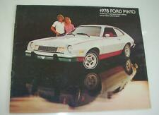 Old Sales Brochure For The Ford Pinto - 1978.