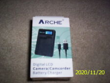 Arche Digital LCD Camera/Camcorder Battery Charger New In Box FREE SHIPPING