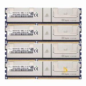 4x 32GB SK Hynix 4Rx4 PC3L-12800L DDR3L 1600Mhz DIMM ECC SERVER Memory RAM