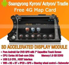 Android Multimedia Player for Ssangyong Kyron Actyon Tradie DVD GPS Navi Radio