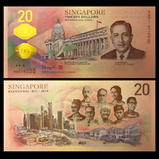 Singapore 20 Dollars, 2019, P-NEW, Polymer, Commemorative, UNC
