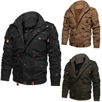 2019 Mens Air Force Military Jacket Stand Collar Coat Tactical Winter Outwear US