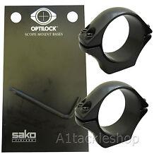 Optilock 30mm Low Scope Rings for Sako or Tikka Mounts