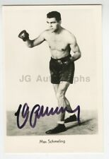 Max Schmeling - Heavyweight Champion Boxer - Signed Photograph