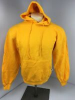 Vtg NWOT 90s RUSSELL ATHLETIC Yellow Marigold Blank Hoodie Sweatshirt Mens Sz S