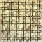 Rosone rosoni incollati su rete piastrelle in marmo 30x30 con tessere 1,4x1,4mix
