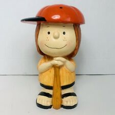 Vintage 1972 Peppermint Patty Peanuts Still Coin Baseball Bank. Charlie Brown.