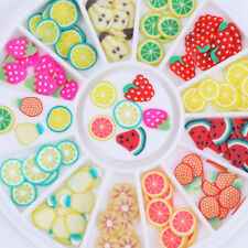 Nail Art Stickers Tips Decoration 12 Patterns 3D Fruit Fimo Slice DIY Colorful